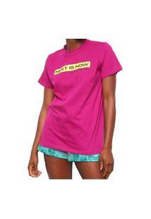 Camiseta Colcci Comfort Rosa Feminino Rosa