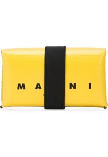 Marni Carteira Com Estampa De Logo - Amarelo