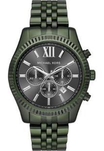 Relógio Michael Kors Feminino Essential Lexington Verde Militar - Mk8604/1Vn Mk8604/1Vn - Feminino-Verde