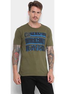 Camiseta Calvin Klein Jeans Masculina - Masculino-Verde Militar