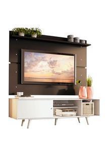 Rack Madesa Dubai E Painel Para Tv Até 65 Polegadas Com Pés Branco/Preto 0977 Preto