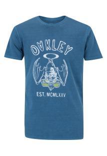 Camiseta Oakley Sun Addict Tee - Masculina - Azul Claro