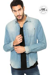 Camisa Jeans Coca-Cola Jeans Clothing Pesponto Azul