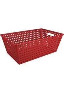 Cestão Organizador One 59,5X38,8Cm Vermelho Bold