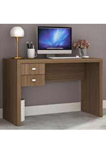 Mesa Para Computador 2 Gavetas Me4123 Amendoa - Tecno Mobili