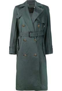 Givenchy Trench Coat Oversized Com Cinto - Verde