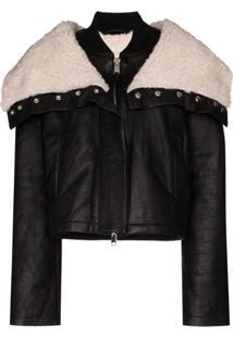Shoreditch Ski Club Laburnum Oversized-Collar Jacket - Preto