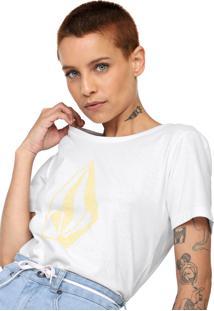 Camiseta Volcom Go Faster Branca