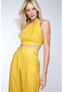 3756ba69d R$ 239,00. Animale Top Ouro Amarelo Cropped ...