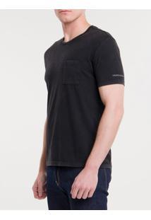 Camiseta Ckj Mc Sustainable Bolso - Preto - Pp