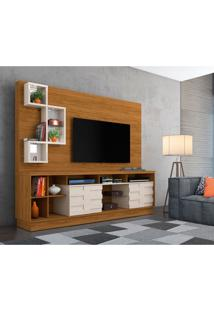 Estante Para Home Theater E Tv Até 65 Polegadas Heitor Naturale E Off White