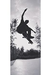 Painel Fotográfico Autocolante Para Porta Com Laminação - Skateboard (0,92M(L) X 2,15M(A))