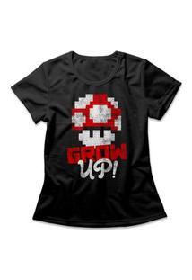 Camiseta Feminina Grow Up Preto