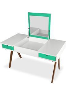 Escrivaninha 0430-0-920 Delacroix Maxima Nogal/Branco/Verde Anis