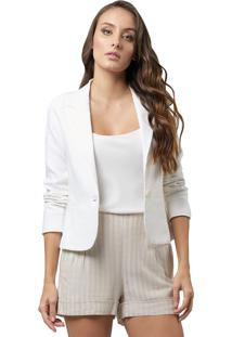 Blazer Mx Fashion Linho Nora Off White