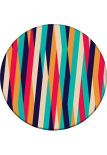 Tapete Love Decor Redondo Wevans Fitas Coloridas Multicolorido 94Cm