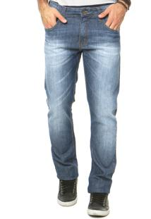 Calça Jeans Reta Colcci Azul
