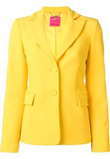 Blumarine Blazer Slim Com Abotoamento Único - Amarelo