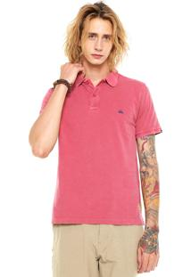 Camisa Polo Quiksilver Rice Rosa
