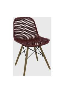 Cadeira Eloisa Carmin Rivatti Vinho Vermelho