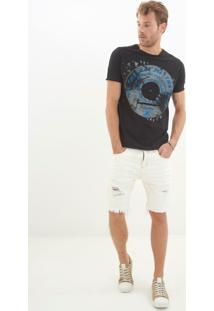 Bermuda John John Classica Florenca 3D Jeans Branca Masculina (Jeans Claro, 36)