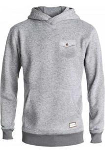 Blusa Moletom Especial Quilsilver Keller Hood Masculino - Masculino-Cinza
