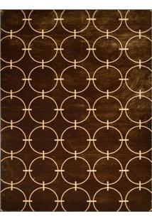 Tapete Marbella Eperney Retangular (100X150Cm) Creme E Caramelo