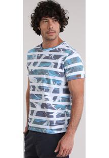 Camiseta Blueman Listrada Azul Marinho