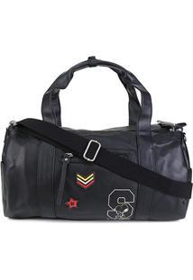 Bolsa Snoopy Barrel Bag Grande Feminina - Feminino-Preto