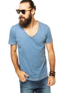 Camiseta Coca-Cola Jeans Pespontos Azul