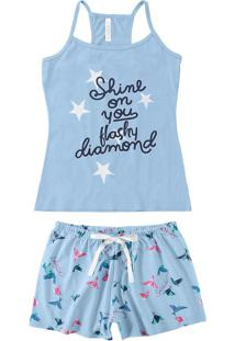 Pijama Curto Nadador Estampado Malwee Liberta