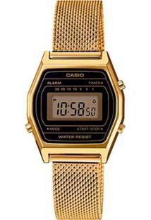 Relógio Casio Vintage La690Wemy-1Df Feminino - Feminino-Dourado