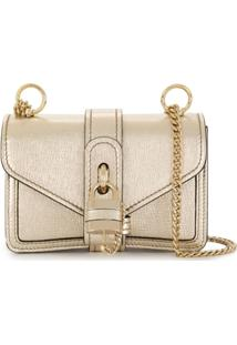 Chloé Mini Aby Chain Shoulder Bag - Dourado