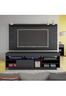 Rack Com Painel Para Tv Até 42 Polegadas Preto
