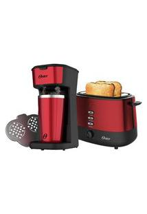 Kit Red Cafeteira 2Day E Torradeira Oster - 127V