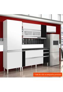 Cozinha Compacta Ebano 6 Pt Branco E Preto