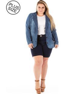 Blazer Jeans Plus Size - Confidencial Extra Slin Fit