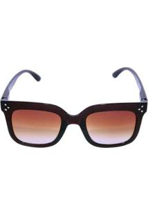 Óculos De Sol Khatto Standard New Downtown Feminino - Feminino-Marrom