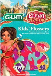 Flosser Gum Fio Dental Infantil Disney Elena 40 Unidade