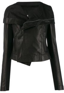 Rick Owens Asymmetric Jacket - Preto