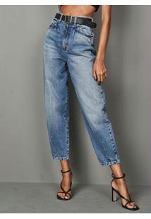 Calça Jeans Zoe Com Cinto Azul