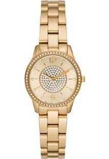 Relógio Michael Kors Mini Runway Feminino - Feminino-Dourado