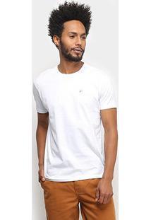 Camiseta Ellus Lisa Masculina - Masculino-Branco