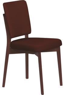 Cadeira Estofada Tramontina 14200/434 Berlim Madeira Tabaco/Café