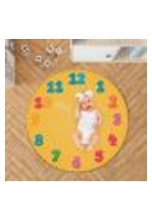 Tapete Mesversário Redondo Números Coloridos 94Cm