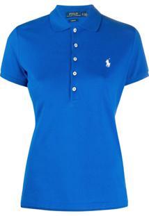 Polo Ralph Lauren Camisa Polo Com Logo Bordado - Azul