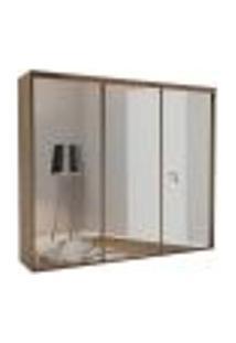 Guarda-Roupa Casal Com Espelho Luminum Light 3 Pt 4 Gv Ébano