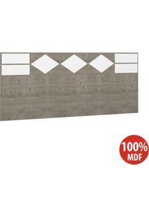 Cabeceira Casal 100% Mdf 22991 Demolição/Branco - Foscarini