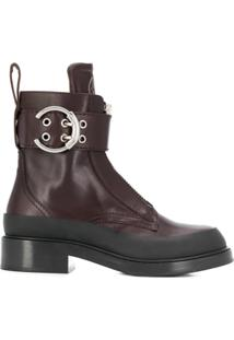 Chloé Roy Zip-Front Ankle Boots - Roxo