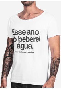 Camiseta Hermoso Compadre Lúpulo, Malte E Levedura - Masculino-Branco